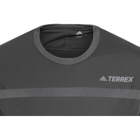 adidas TERREX Agravic Hybrid Løbetrøje langærmet Herrer, carbon/black